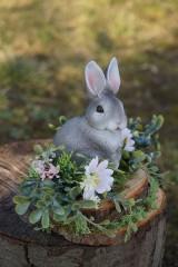 Dekorácie - Sivý zajačik - 11567589_