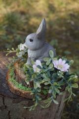Dekorácie - Sivý zajačik - 11567593_