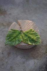 Náušnice - Makramé náušnice svieže zelené - 11567775_