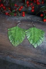 Náušnice - Makramé náušnice svieže zelené - 11567781_