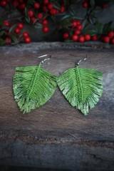 Náušnice - Makramé náušnice svieže zelené - 11567782_