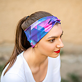Ozdoby do vlasov - Čelenka twist Triangle purple&pink - 11567516_