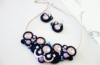 Sady šperkov - Šujtášový náhrdelník so Swarovski - 11566050_