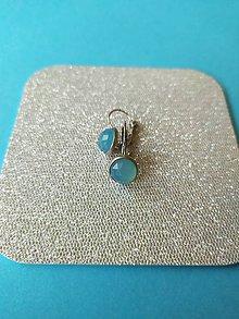 Náušnice - Náušnice modrý chalcedón - 11567762_