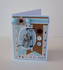 Papiernictvo - Pohľadnica s 3D obrázkom mačky III. - 11568386_