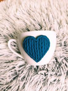Nádoby - Pohárik Valentín modrý - 11568228_