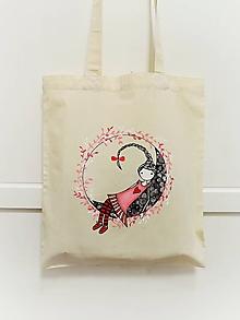 Nákupné tašky - Nákupná taška - dievčatko na mesiaci - 11568727_