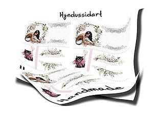 Grafika - Handmade cedulky kočička - 11568260_