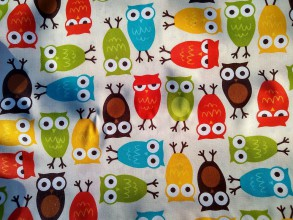 Textil - Bavlna s PVC vrstvou SOVY (nevhodná do práčky) - 11570678_