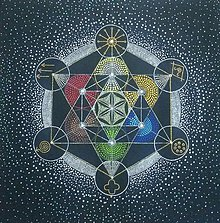 Obrázky - Mandala Metatronova kocka so symbolmi skutočnosti - 11572759_
