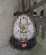 Dekorácie - Závesná dekorácia: Veľkonočné vajíčko - 11572151_