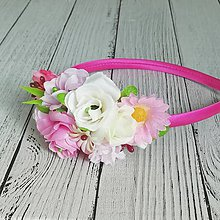 Detské doplnky - Kvetinová čelenka pre dievča - 11572646_