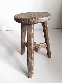 Nábytok - Stolček k&m dizajn (priemer 27,5 cm) - 11569356_