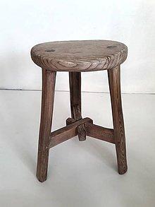 Nábytok - Stolček k&m dizajn (priemer 30cm ) - 11569411_