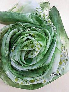 Šály - Šál hodvábny - green life - 11569418_