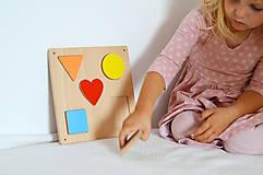Hračky - Geometrické tvary na magnet - 11570444_