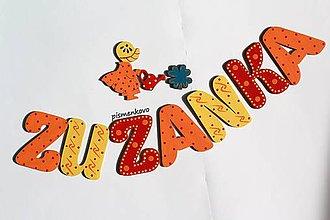 Tabuľky - ZUZANKA oranžovo žlté dievčatko - 11571469_