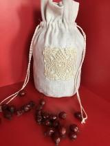Úžitkový textil - Vrecúško na šípky z ručne tkaného ľanu - 11569914_