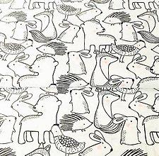 Textil - ružolíci zverinec, 100 % bavlna Francúzsko, šírka 150 cm - 11570426_