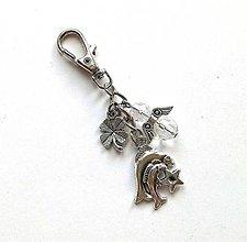 """Kľúčenky - Kľúčenka """"znamenia"""" s anjelikom (ryby (20.2.-20.3.)) - 11571736_"""
