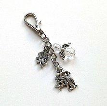 """Kľúčenky - Kľúčenka """"znamenia"""" s anjelikom (vodnár (20.2.-20.3.)) - 11571746_"""
