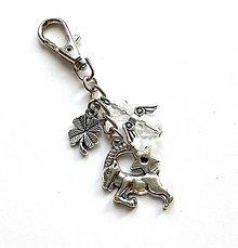 """Kľúčenky - Kľúčenka """"znamenia"""" s anjelikom (kozorožec (22.12.-2.1.)) - 11571753_"""