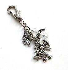 """Kľúčenky - Kľúčenka """"znamenia"""" s anjelikom (strelec (23.11.-21.12.)) - 11571759_"""