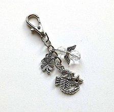 """Kľúčenky - Kľúčenka """"znamenia"""" s anjelikom (škorpión (24.10.-22.11.)) - 11571761_"""