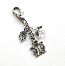 """Kľúčenky - Kľúčenka """"znamenia"""" s anjelikom (váhy (24.9.-23.10.)) - 11571765_"""