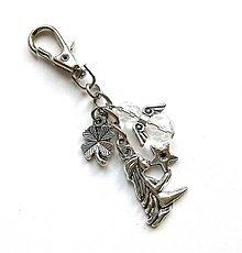 """Kľúčenky - Kľúčenka """"znamenia"""" s anjelikom (panna (24.8.-23.9.)) - 11571767_"""