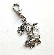 """Kľúčenky - Kľúčenka """"znamenia"""" s anjelikom (lev (23.7.-23.8.)) - 11571782_"""