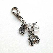 "Kľúčenky - Kľúčenka ""znamenia"" s anjelikom (rak (22.6.-22.7.)) - 11571787_"