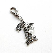 """Kľúčenky - Kľúčenka """"znamenia"""" s anjelikom (blíženci (21.5.-21.6.)) - 11571831_"""