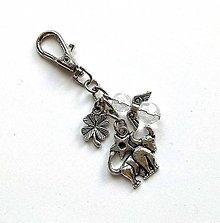 """Kľúčenky - Kľúčenka """"znamenia"""" s anjelikom (býk (21.4.-20.5.)) - 11571844_"""