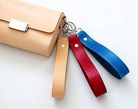 Iné tašky - Kožený popruh na zápästie ku kabelke CITY BAG /10 farieb/ - 11569728_
