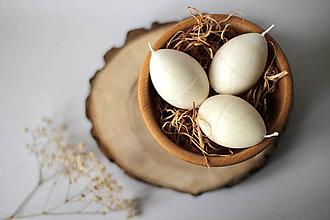 Svietidlá a sviečky - Veľkonočné vajíčko - BIELE - 11572837_