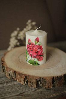 Svietidlá a sviečky - Sviečka s ružou z palmového vosku - 11572895_