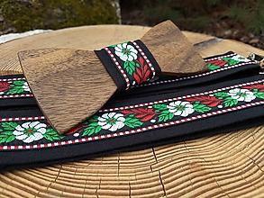 Doplnky - Pánsky drevený motýlik a traky - 11570844_