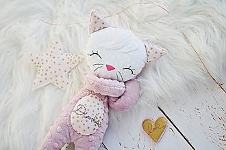 Hračky - Mačička Rosegold - 11571432_