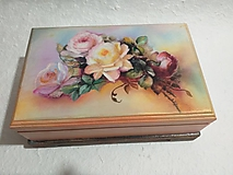 Krabičky - Šperkovnica - kytica ruží - 11571034_