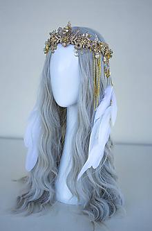 Ozdoby do vlasov - Boho Wedding Crown - svadobná koruna - 11571264_