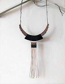 Náhrdelníky - Makramé náhrdelník Fúzia - 11570672_
