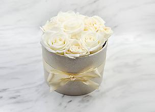 Dekorácie - Eternal Rose Flower box (Eternal Rose Flower box Ivory) - 11569560_