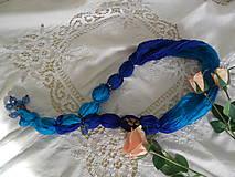 Náhrdelníky - Šperk z hodvábu. - 11571113_