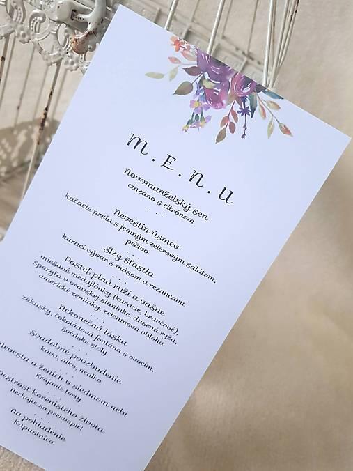 """Svadobné menu """"Aubergine rose"""""""