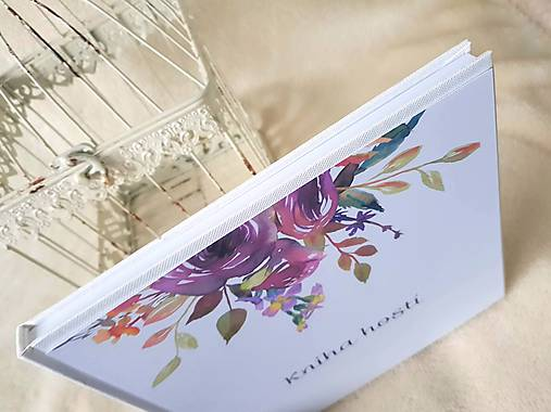 """Kniha hostí """"Aubergine rose"""""""