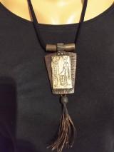Náhrdelníky - Hnedý náhrdelník - 11572267_