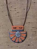 Náhrdelníky - Oranžový náhrdelník - 11572333_