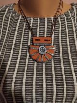 Náhrdelníky - Oranžový náhrdelník - 11572334_