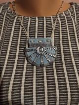 Náhrdelníky - Šedomodrý náhrdelník - 11572363_